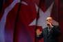 Le président turc, Recep Tayyip Erdogan, prononce un discours en amont du référendum sur la réforme constitutionnelle censée élargir ses pouvoirs, le 12 avril 2017.