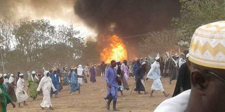 Image de l'incendie diffusée sur les réseaux sociaux.