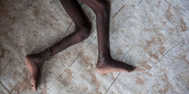 Au camp de déplacés de Muna, dans l'Etat de Borno, au Nigeria, en juin 2016.
