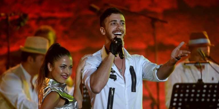 Saad Lamjarred, lors d'un concert à Tunis.