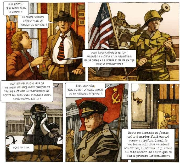 Extrait du « Coup de Prague»,de Miles Hyman et Jean-Luc Fromental.