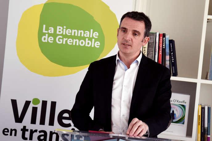 Le maire (EELV) de Grenoble, Eric Piolle, le 26 janvier, lors de ses vœux à la mairie de la ville.