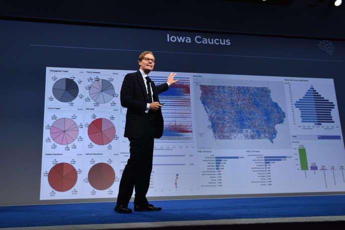 Le PDG de Cambridge Analytica, Alexander Nix, prend la parole lors du Sommet Concordia, à New York, en septembre 2016.