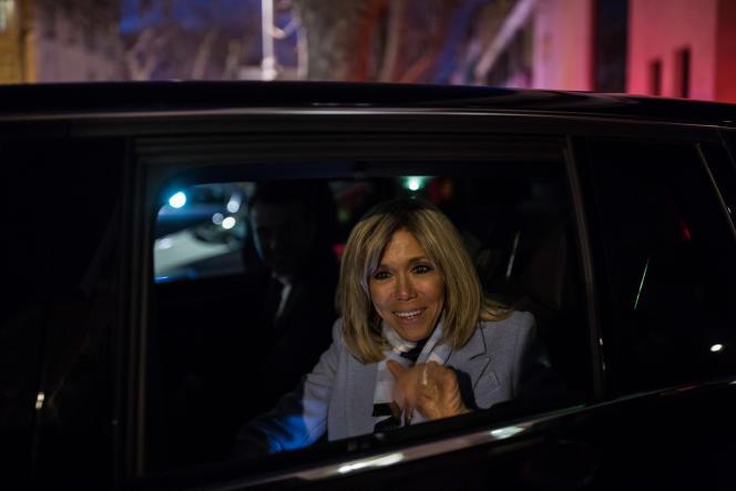 Brigitte Macron à Carpentras (Vaucluse), le 17 février.
