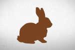 Un lapin de Pâques.