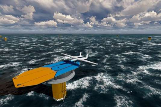 Les fondations des actuelles éoliennes offshore pourraient servir de base de lancement et d'atterrissage pour les drones d'Ampyx Power.