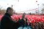 Le président turc Recep Tayyip Erdogan en meeting à Konya le 14 avril à quelques jours du référendum constitutionnel.