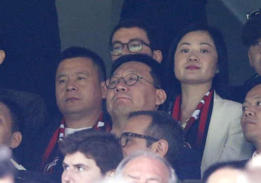 Li Yonghong a assisté à son premier derby milanais en tant que président du Milan AC.