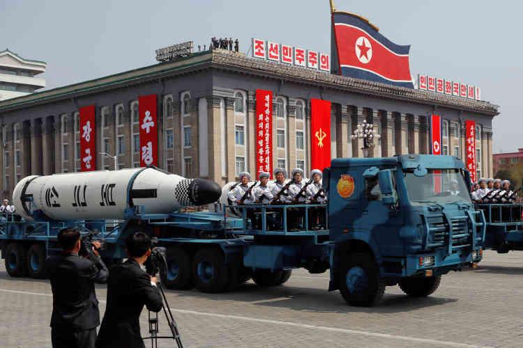 La Corée du Nord a profité de cette date-anniversaire pour procéder à l'essai d'un missile. Ce test a échoué.