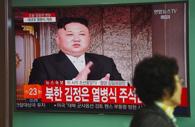 Un reportage montre Kim Jong-un, pendant le cérémonie du 105ème anniversaire de la naissance de Kim Il-sung - son grand père, le 15 avril.
