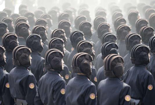 Parade militaire à Pyongyang le 15 avril.