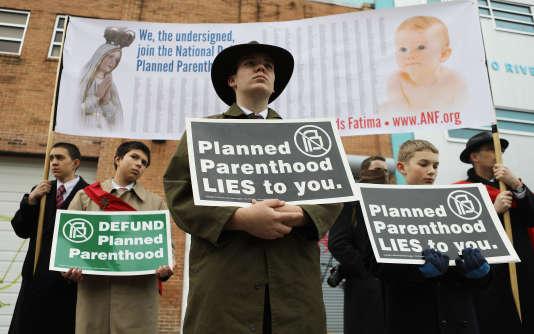 Des militants anti-avortement à Washington, le 11 février.