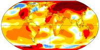 Les écarts de température par rapport à la normale enregistrés en mars 2017;