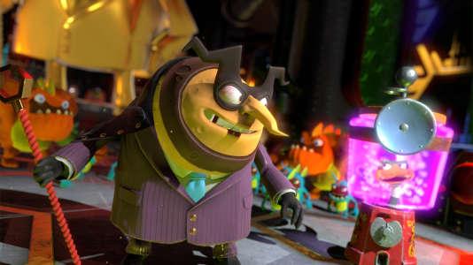 Capital B., grand méchant du jeu «Yooka-Laylee», est un homme d'affaires sans scrupule qui utilise une machine aspirant à distance les livres du monde entier.