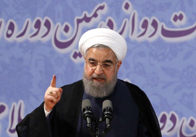 Le président iranien, Hassan Rouhani, à Téhéran le 14 avril.