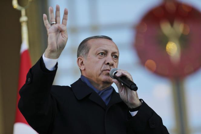Le président turc Recep Tayyip Erdogan, à Ankara, le 17 avril.
