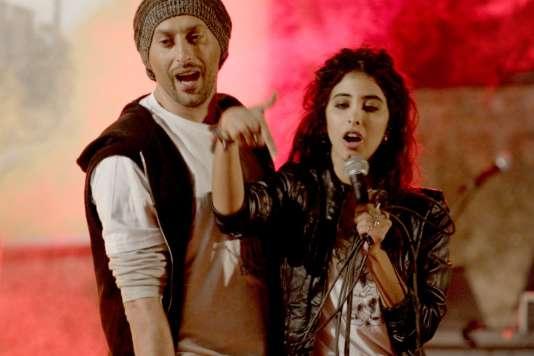 Tamer Nafar et Samar Qupty dans le film israélien d'Udi Aloni,«Jonction48» («Junction 48»).