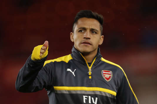 Alexis Sanchez, joueur de l'équipe d'Arsenal, le 17 avril, lors du match Middlesbrough - Arsenal.