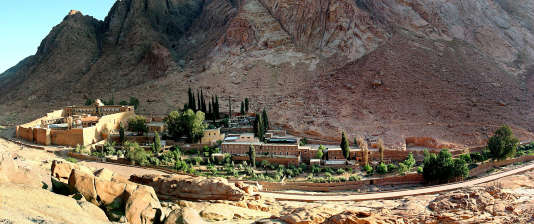 Vue générale du monastère de Sainte-Catherine, en Egypte, le 18mai 2005.