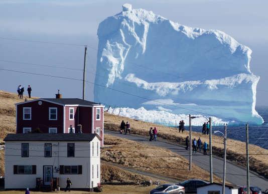 L'iceberg est bloqué au large de la ville de Ferryland.
