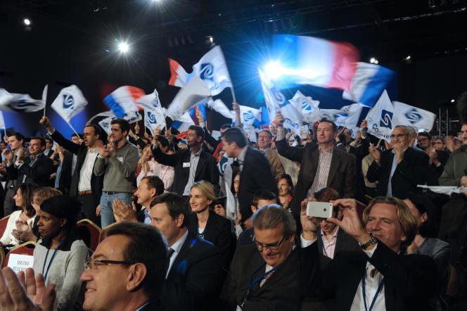 Un meeting de Sens commun, le 15 novembre 2014, à Paris