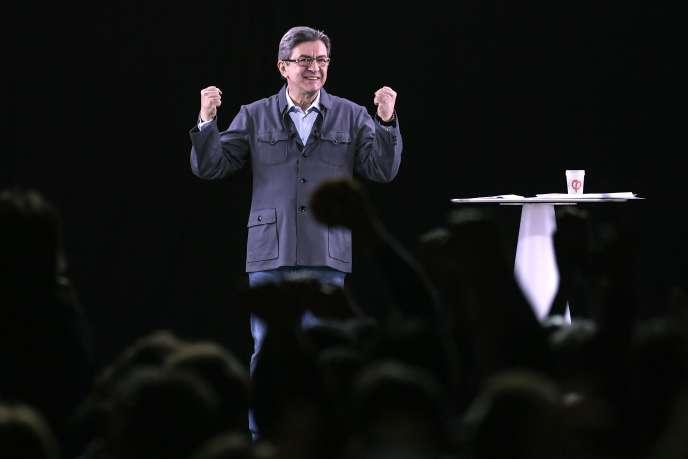 Jean-Luc Mélenchon, le 18 avril 2017, à Dijon.