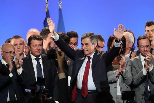 Eric Ciotti et Christian Estrosi sont venus soutenir François Fillon, à Nice le 17 avril.