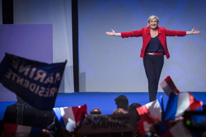 Marine Le Pen, le 17 avril 2017, à Paris.