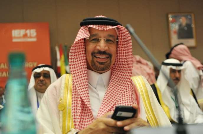 Le ministre saoudien de l'énergie, Khaled Al-Faleh, au Forum international de l'énergie, en Algérie, le 27 septembre 2016.