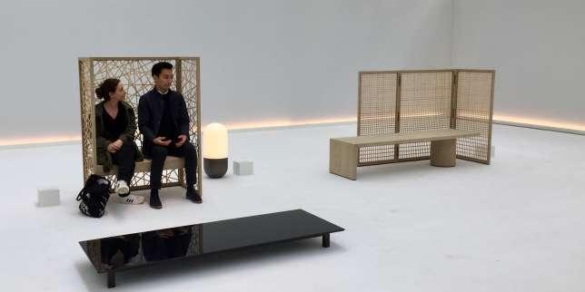 Du mobilier destiné à la méditation, imaginé par Adrian Cheng avec le designer japonais récemment disparu, Shigeru Uchida.