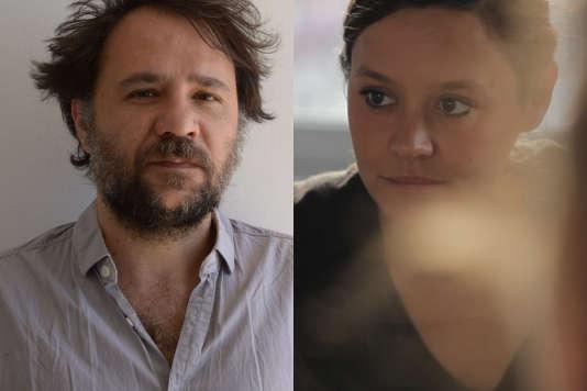 L'auteur OlivierSaccomano et la metteure en scèneNathalie Garraud.