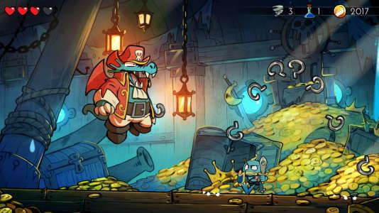Wonder Boy : A Dragon's Trap réserve un lot gratifiants de décors ravissants, de boss loufoques et de transformations hautes en couleur.