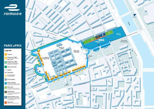 Le tracé 2017 de l'ePrix de Paris est identique à celui de 2016.