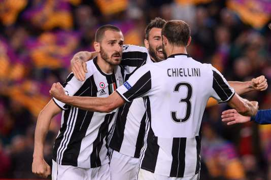 Les trois défenseurs de la Juventus Turin.