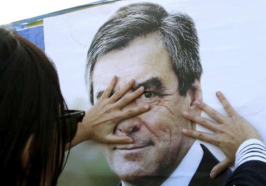 L'affiche de François Fillon, lors du premier tour de l'élection présidentielle.