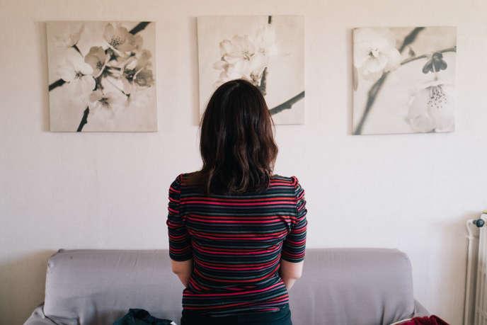 Amandine, chez elle, à Toulouse.