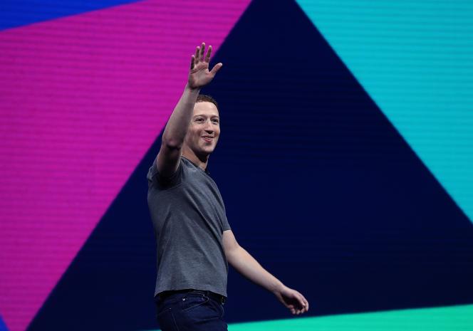 Mark Zuckerberg, fondateur du réseau social, le 18 avril, lors de la conférence Facebook F8, à San Jose en Californie.