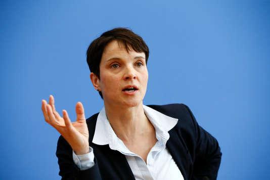 Frauke Petry, la présidente de l'AfD, à Berlin.
