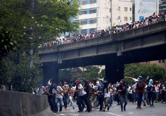 Lors de la« mère de toutes les manifestations» à Caracas, mercredi 19 avril 2017.