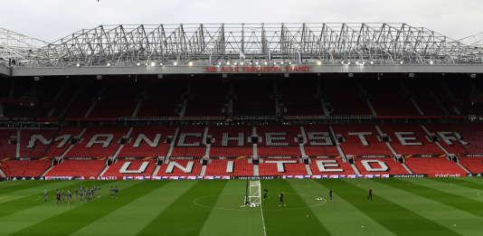 Le stade de Old Trafford à Manchester, dans le nord-ouest de l'Angleterre, le 19 avril.