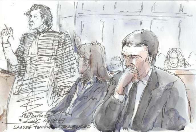 Sandra et Thomas Thevenoud devant le tribunal correctionnel de Paris, le 19avril.