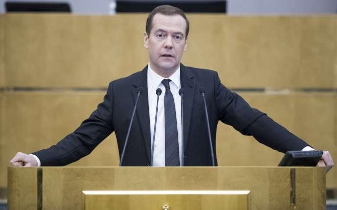 Dmitri Medvedev, le premier ministre russe, à Moscou le 19 avril.