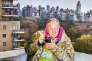 Jean Pigozzi le 13 avril 2017, sur la terrasse de son appartement à Manhattan.