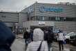 Le site Whirlpool (anciennement Indesit) de Lodz, en Pologne, le 12 avril.