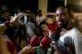 Davy Rimane, porte-parole du collectif Pou Lagwiyann dékolé, à Cayenne, le 19 avril.