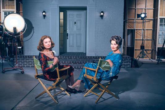 Susan Sarandon (Bette Davis), Jessica Lange (Joan Crawford)