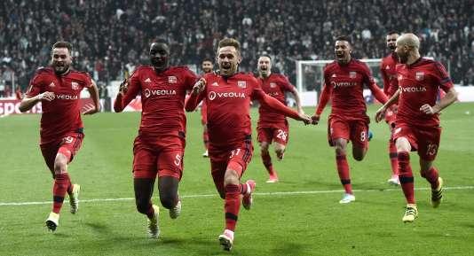 la joie des Lyonnais après leur qualification face à Besiktas.