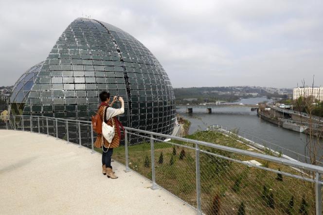 La Seine musicale, sur l'île Seguin, à Boulogne-Billancourt (Hauts-de-Seine), le 5 avril 2017.