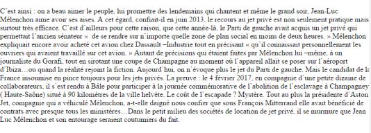 Première version du texte d'Atlantico sur Jean-Luc Mélenchon