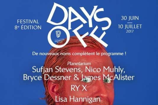 L'affiche de l'édition 2017du festival Days Off.